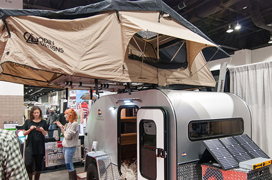 Massive Teardrop Trailer with Odin Tent