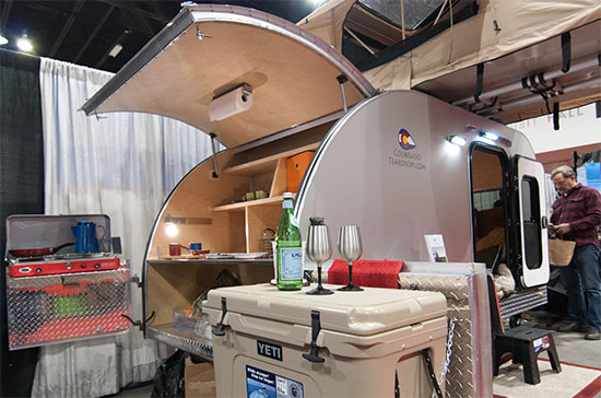 Massive Teardrop Trailer Galley